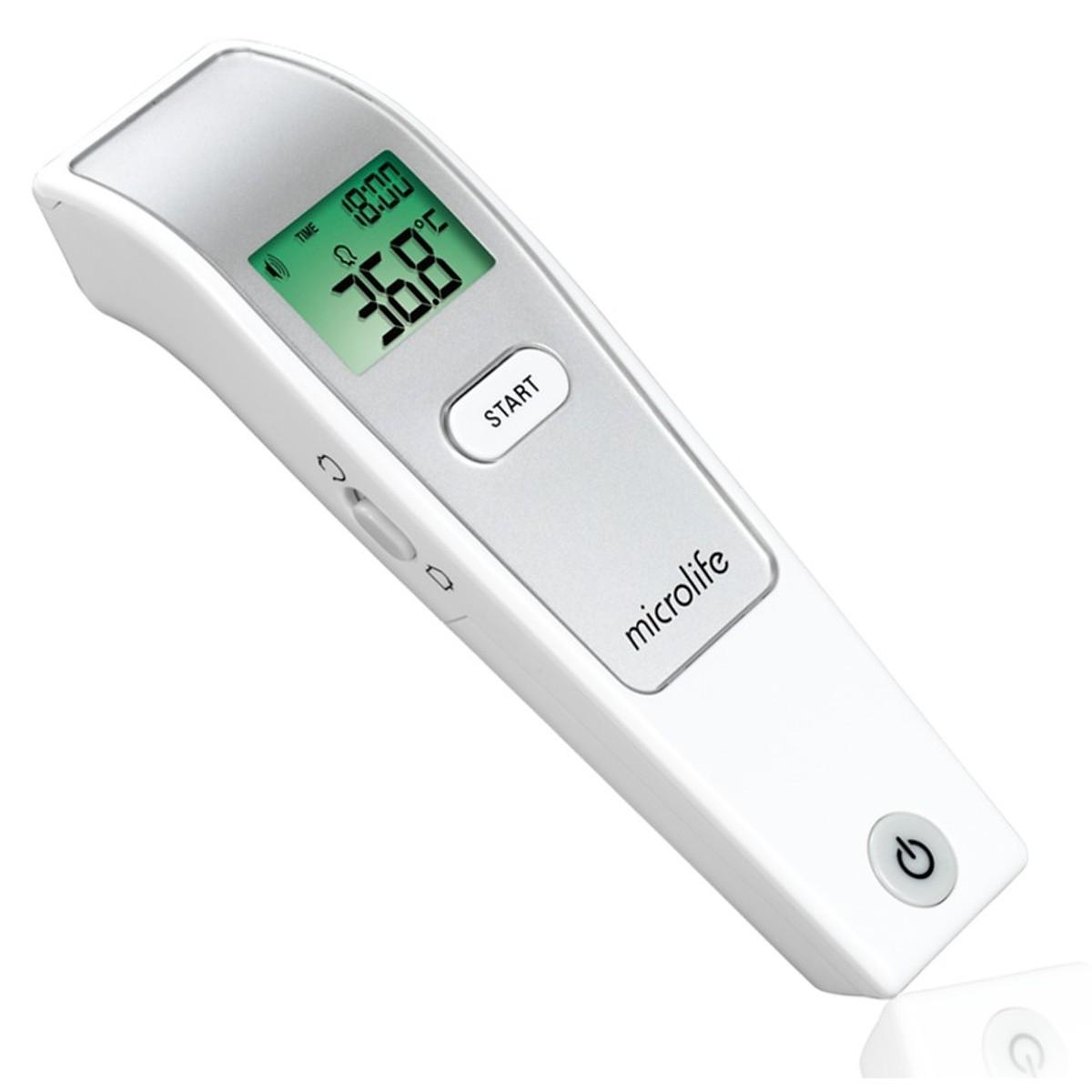 Combo Máy Đo Huyết Áp Bắp Tay Microlife A2 Classic + Adapter + Nhiệt Kế Hồng Ngoại Đo Trán MIcrolife FR1MF1