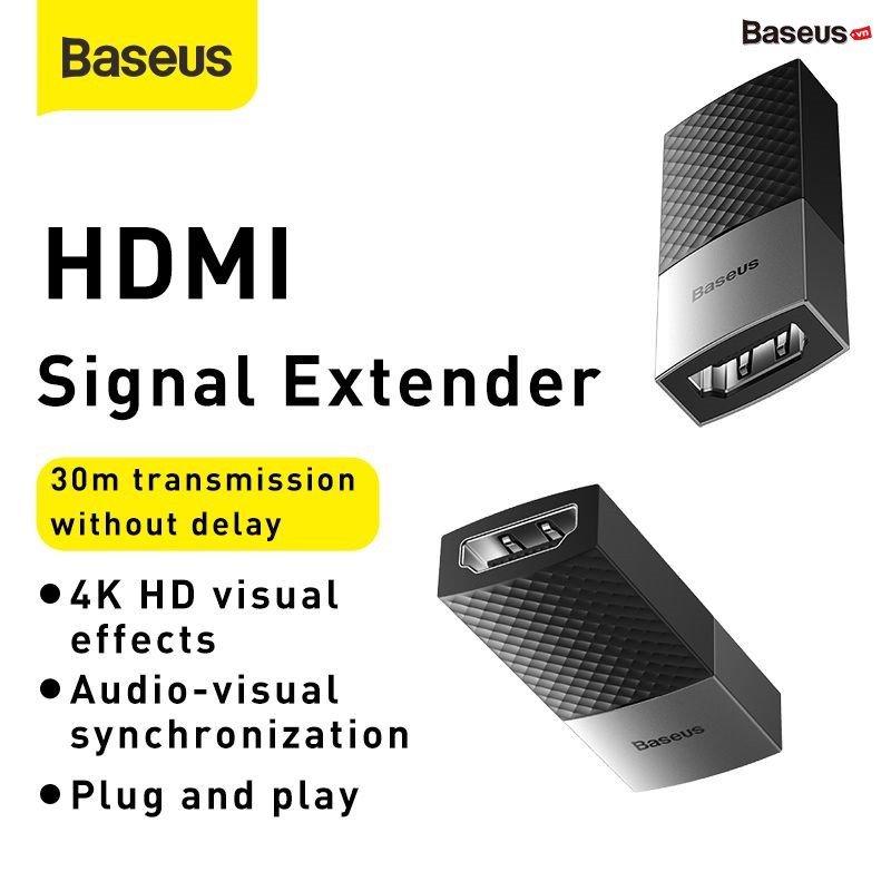 Đầu nối dài cổng HDMI Baseus HDMI Signal Extender (support 4K Video, chống nhiễu)HÀNG NHẬP KHẨU