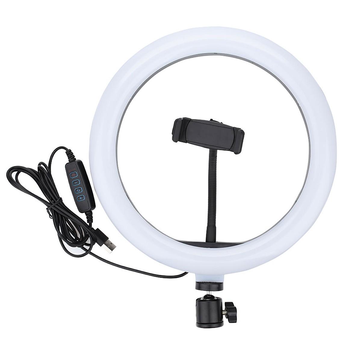 Đèn led Livestream 33cm Ring Light + Tripod+ Đầu kẹp