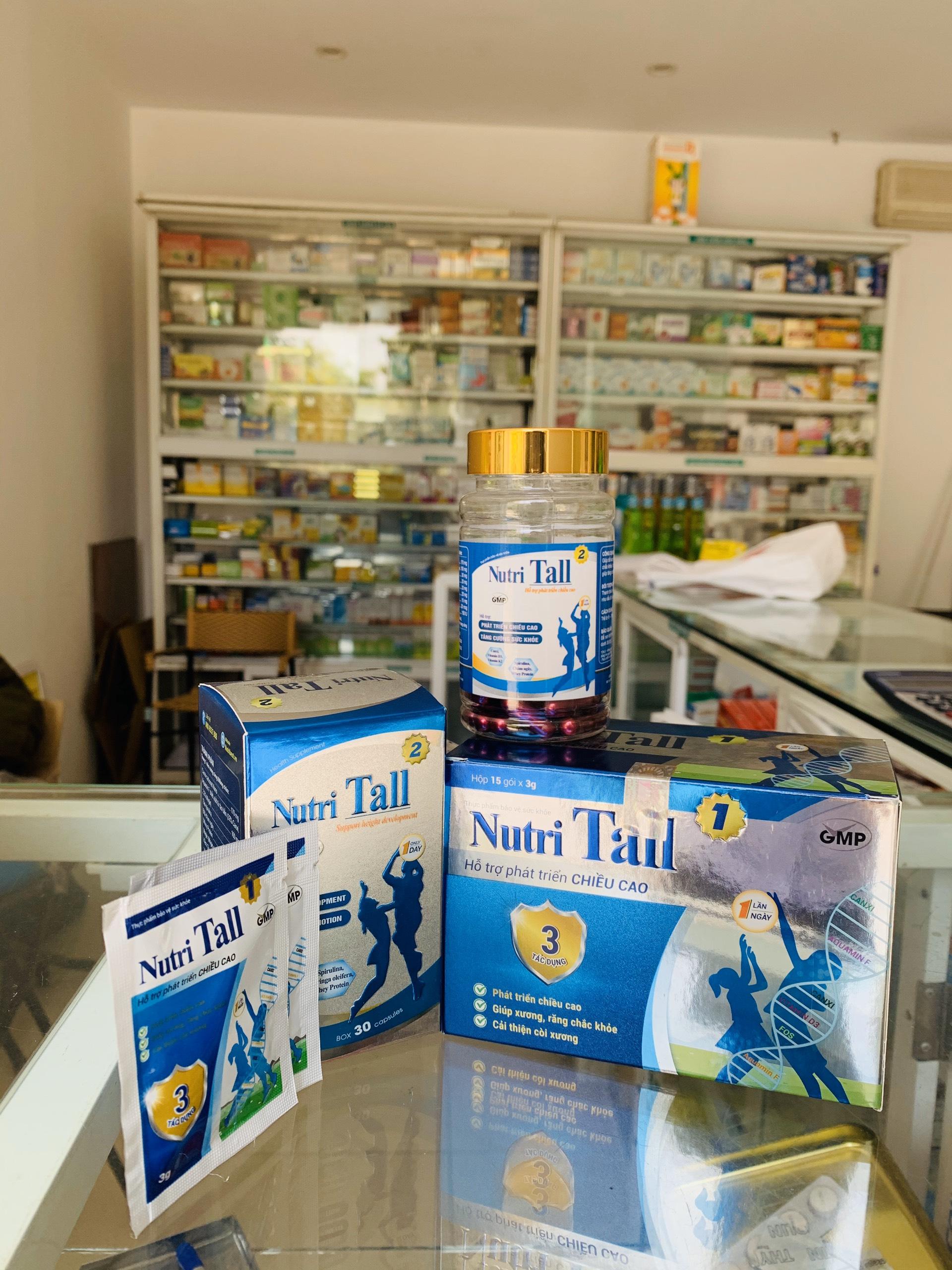 Thực phẩm bảo vệ sức khỏe Hỗ trợ tăng chiều cao Nutri Tall 1 - Chuyên biệt phát triển chiều cao cho trẻ 2-8 tuổi - Kết hợp Canxi Nano, Canxi Hữu Cơ, Vitamin D3, MK7