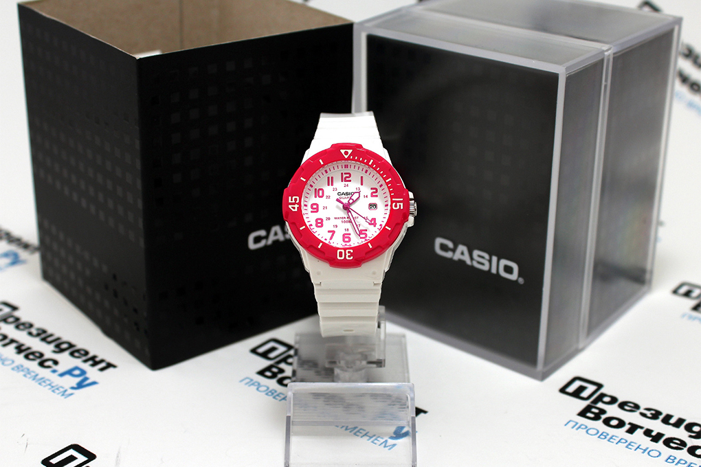 Đồng Hồ Nữ Dây Nhựa Casio LRW-200H-4BVDF (32mm) - Trắng