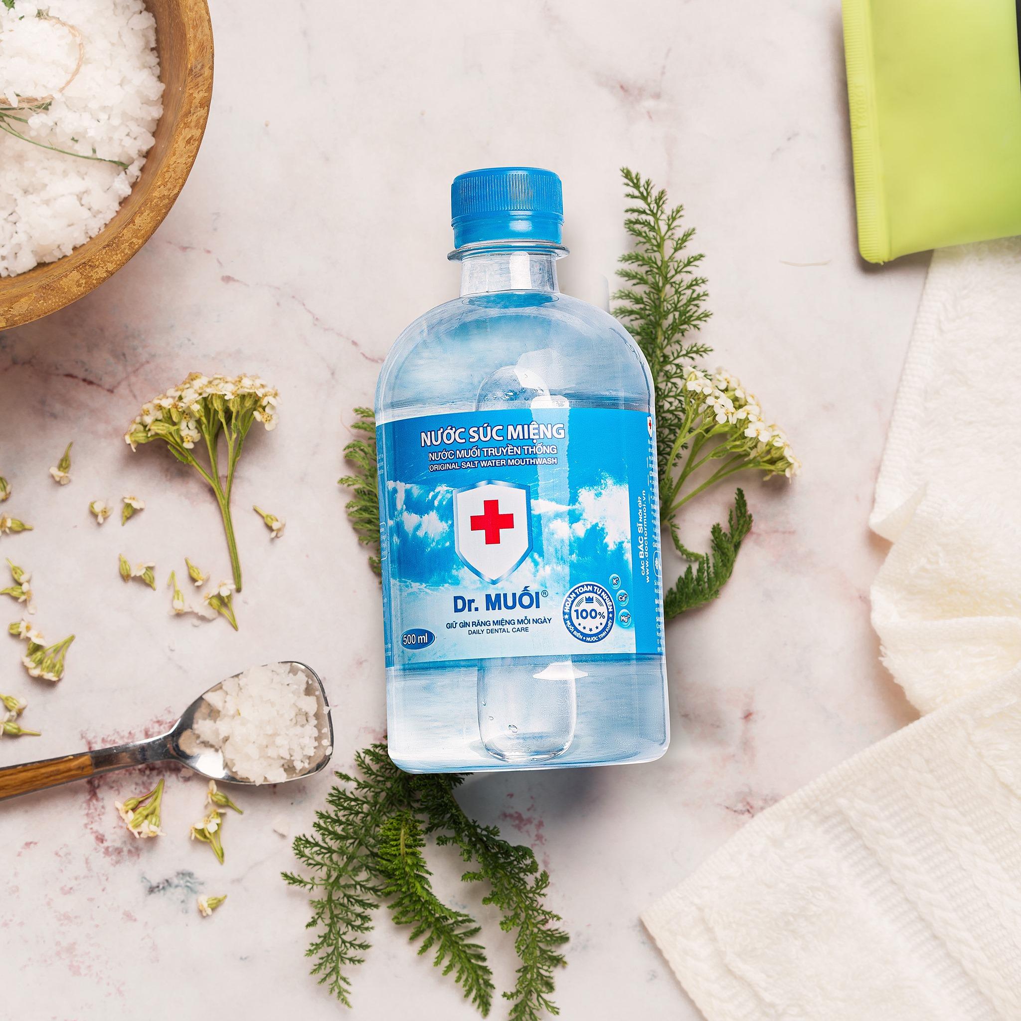 Combo 6 chai Nước súc miệng Dr. Muối truyền thống (100ml)