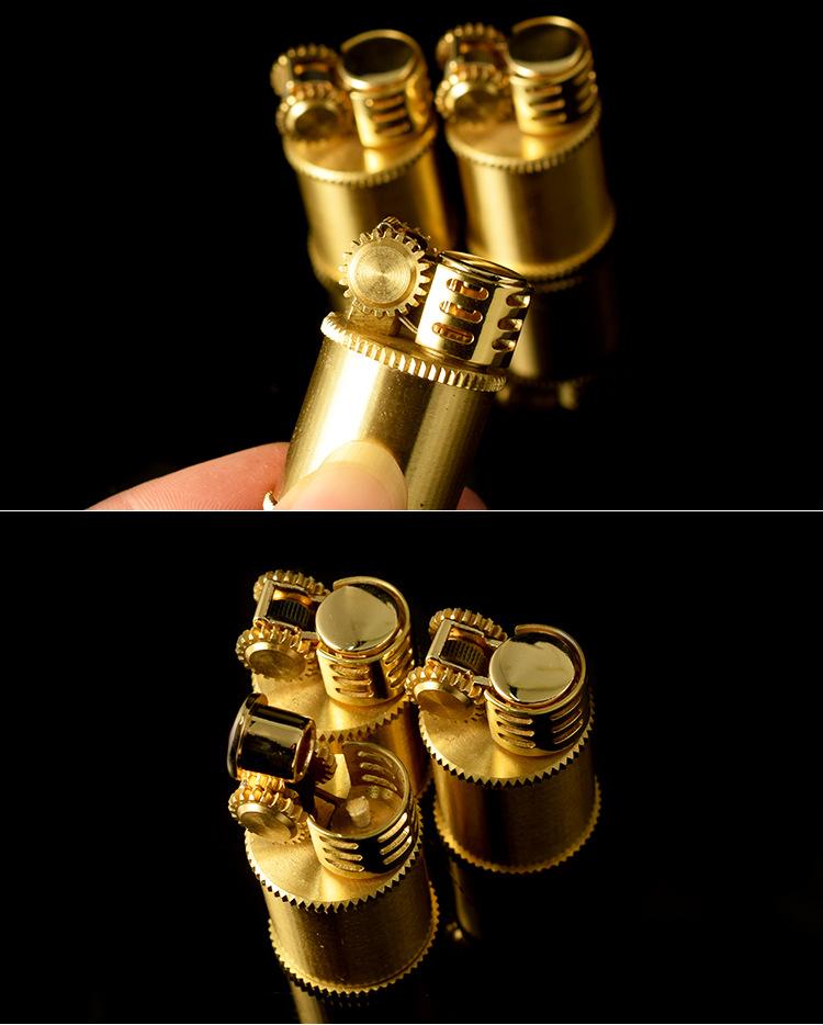 Bật Lửa Đồng  Cổ Lùn vàng trơn