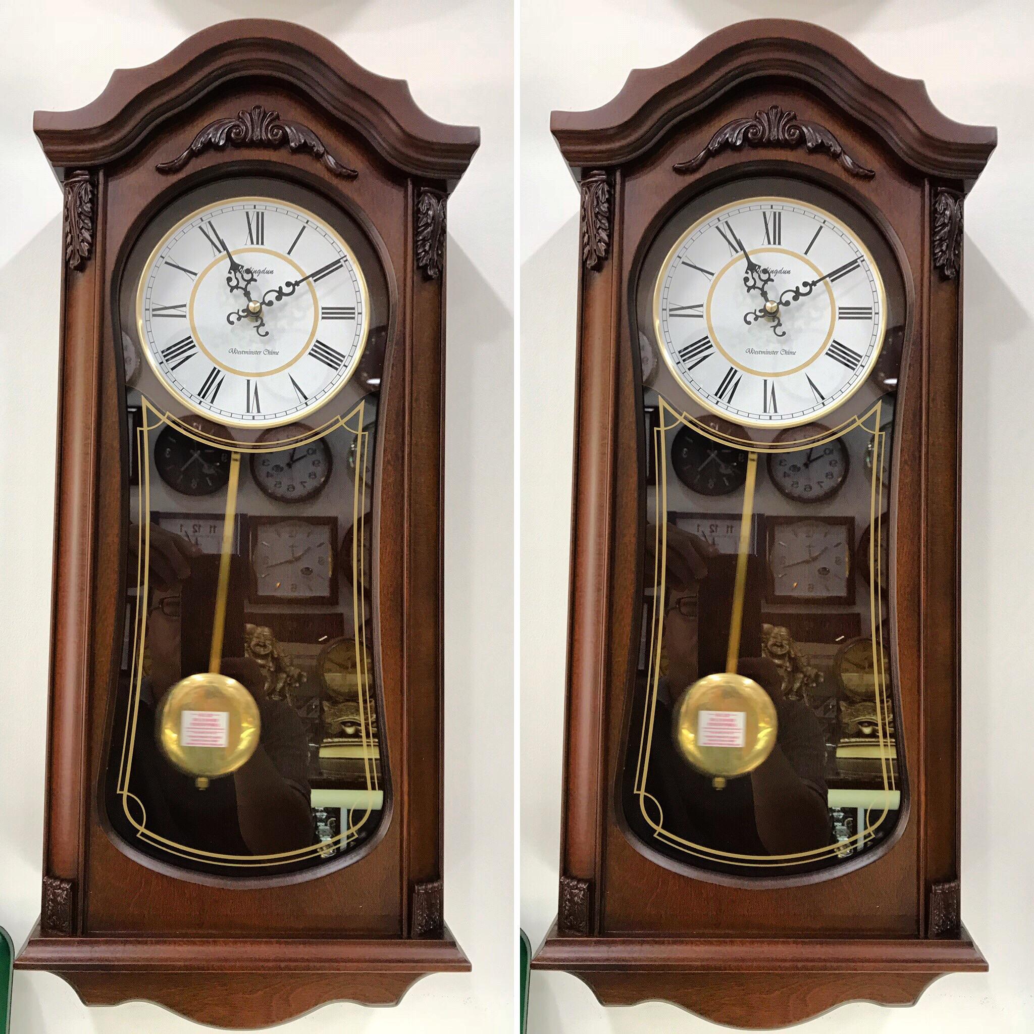 Đồng hồ quả lắc gỗ treo tường Wellington
