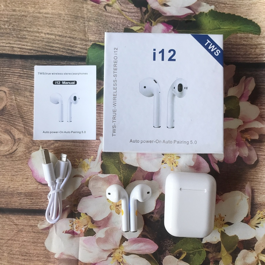 Tai nghe Bluetooth 5.0 i12 chính hãng TWS