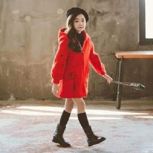 áo khoác nỉ 2 lớp bé gái