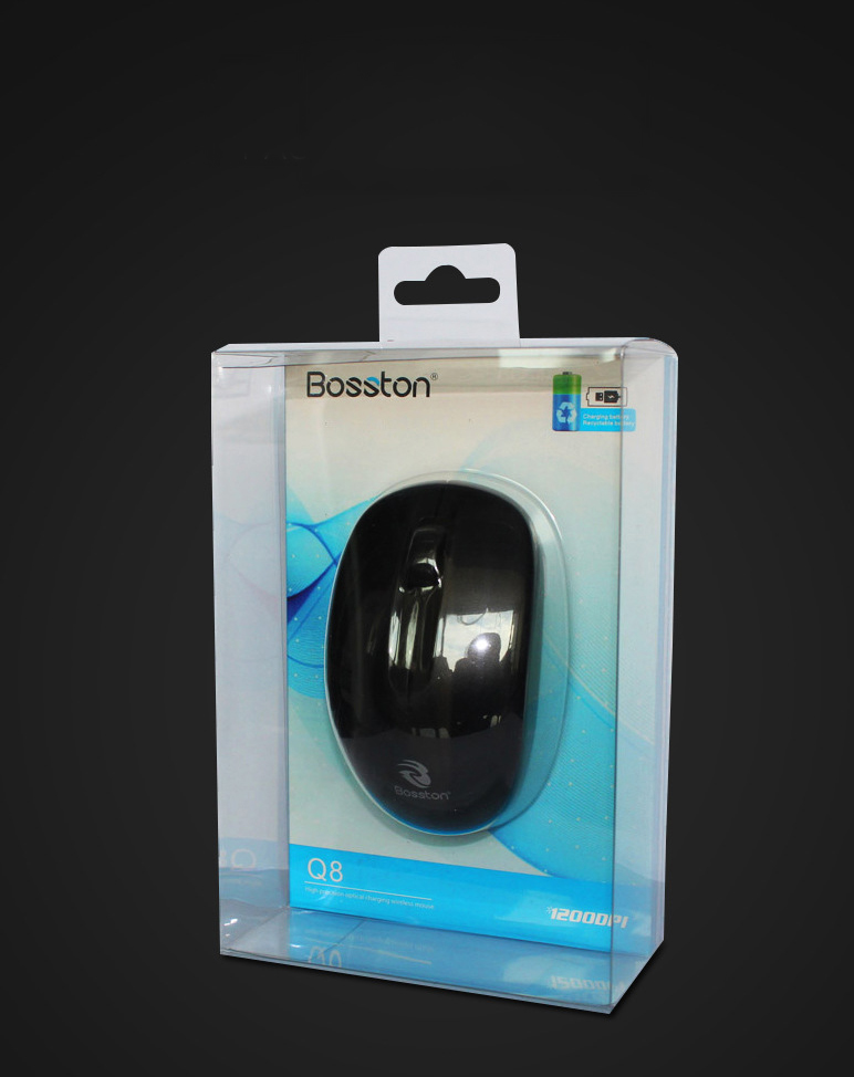Chuột Không Dây Bosston Q8 Pin Sạc 1000DPI - Chính hãng