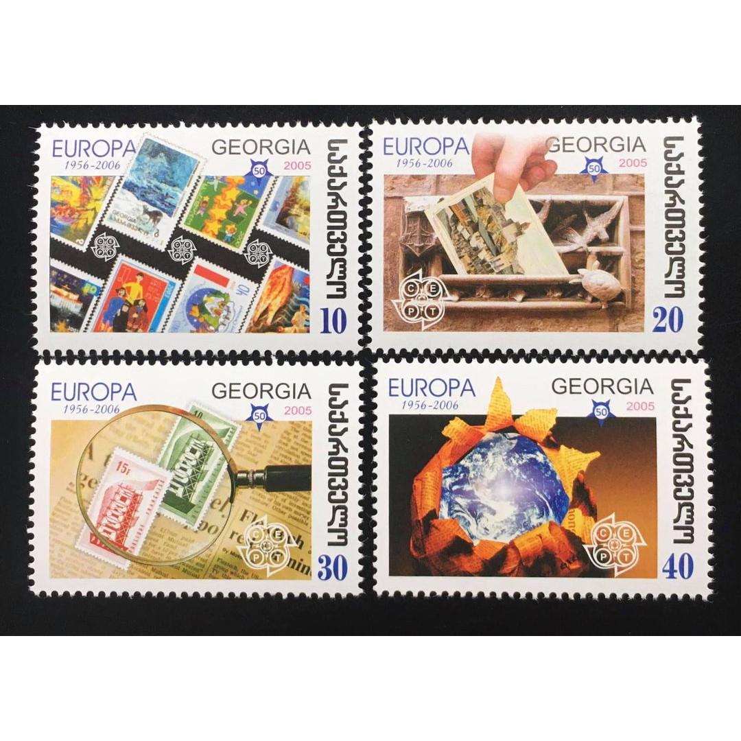 Bộ Tem Sưu Tầm Georgia 2005 Europa Chủ Đề Sưu Tầm Tem - 4 Con Stamps