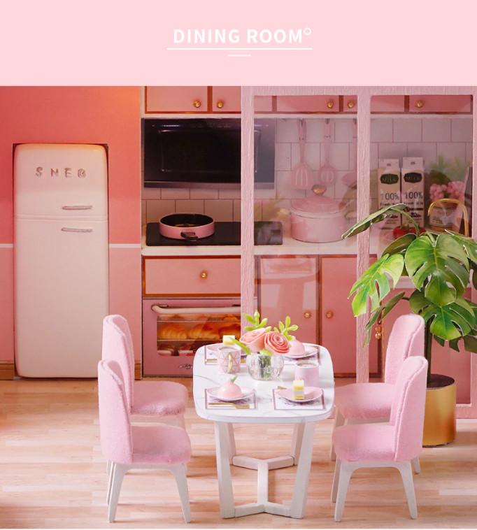 Mô Hình Lắp Ráp Nhà Búp Bê DIY - Meeting Your Sweet L027 ( Tặng mica + keo )