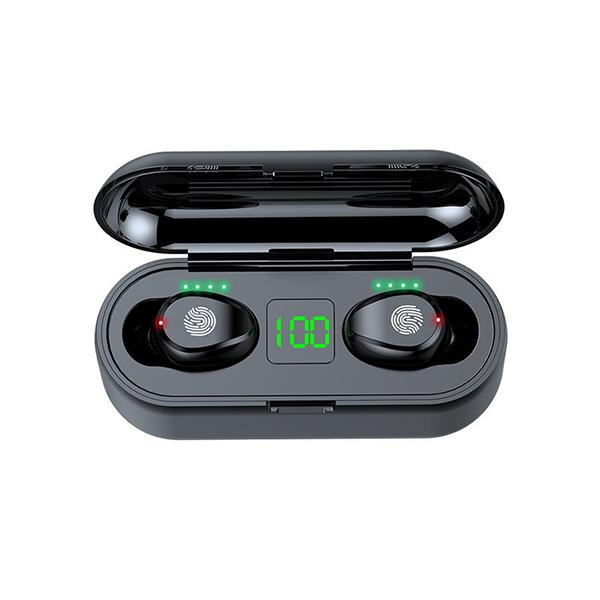Tai Nghe Bluetooth Không Dây Nhét Tai Lanith 5.0 TWS F9 - Tặng dây cáp sạc 3 đầu - Hàng Nhập Khẩu - TAI000F9B.CAP001