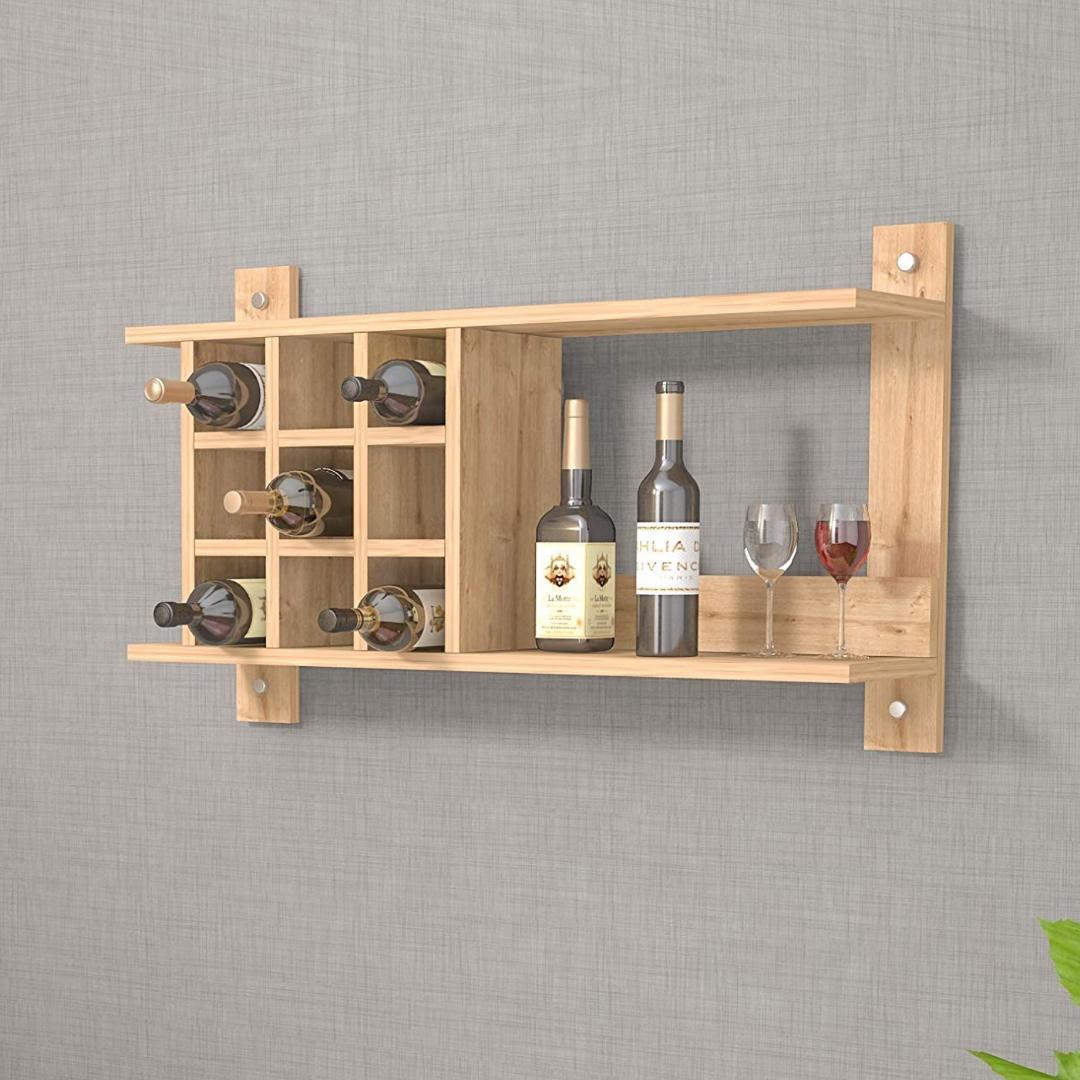 Kệ rượu gỗ hiện đại SMLIFE Andexen