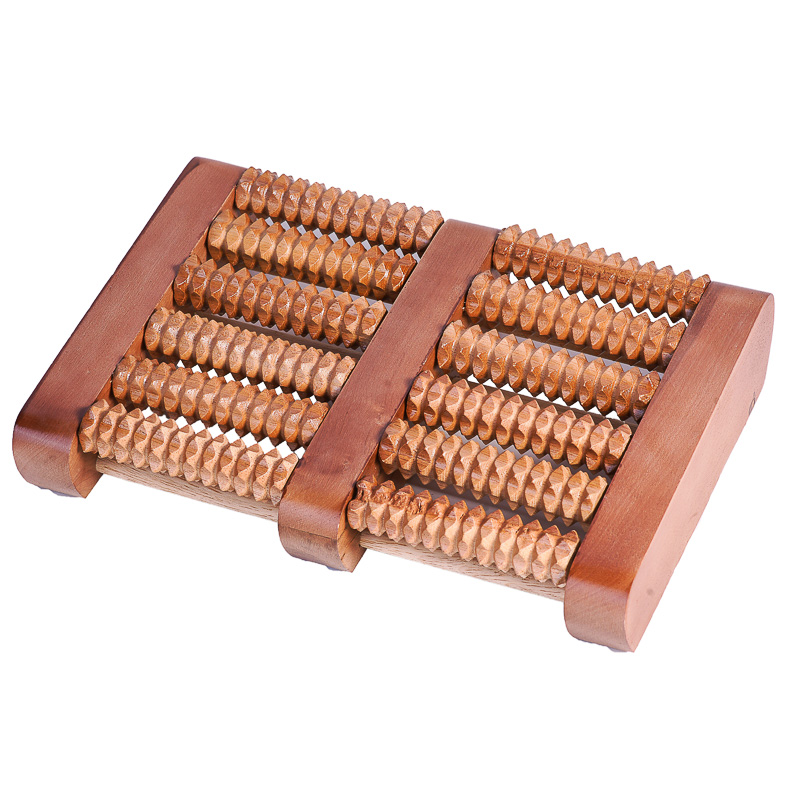 Bàn lăn gỗ massage chân 6 hàng đại