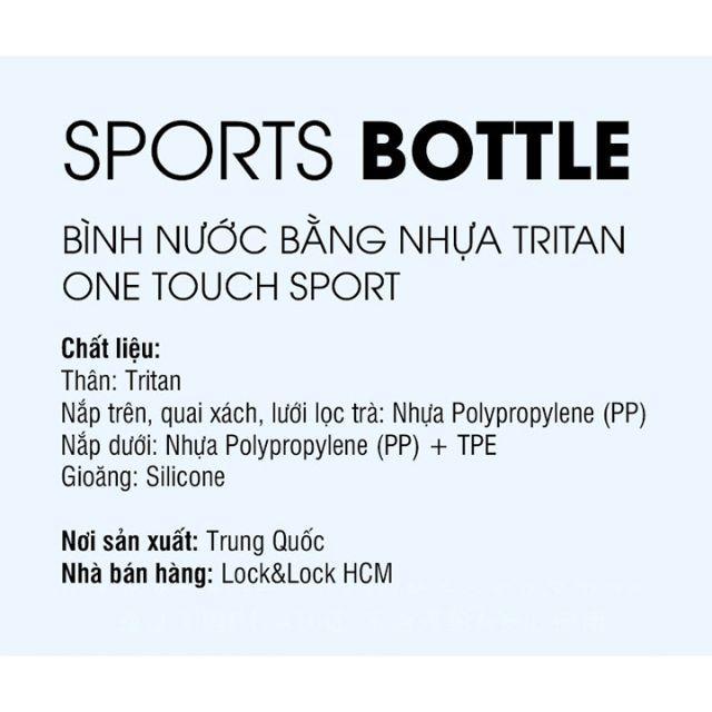 Bình Nước Bằng Nhựa Tritan One Touch Sport Lock&Lock ABF763BLU (750ml)