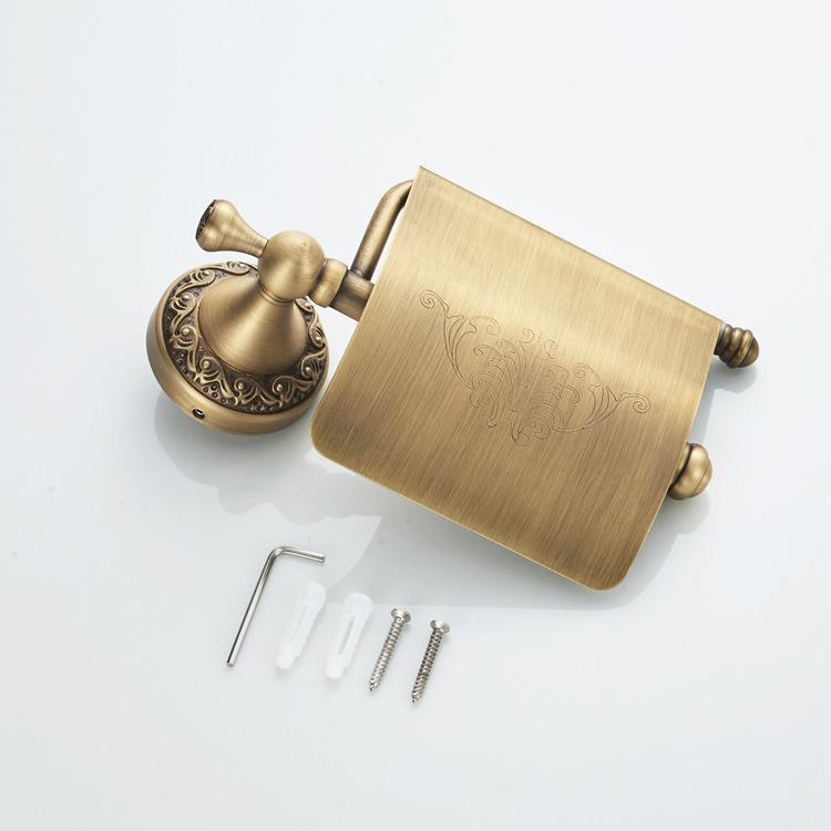 Giá treo giấy vệ sinh nhà tắm bằng đồng GD408B – Hoa văn tinh xảo và sang trọng