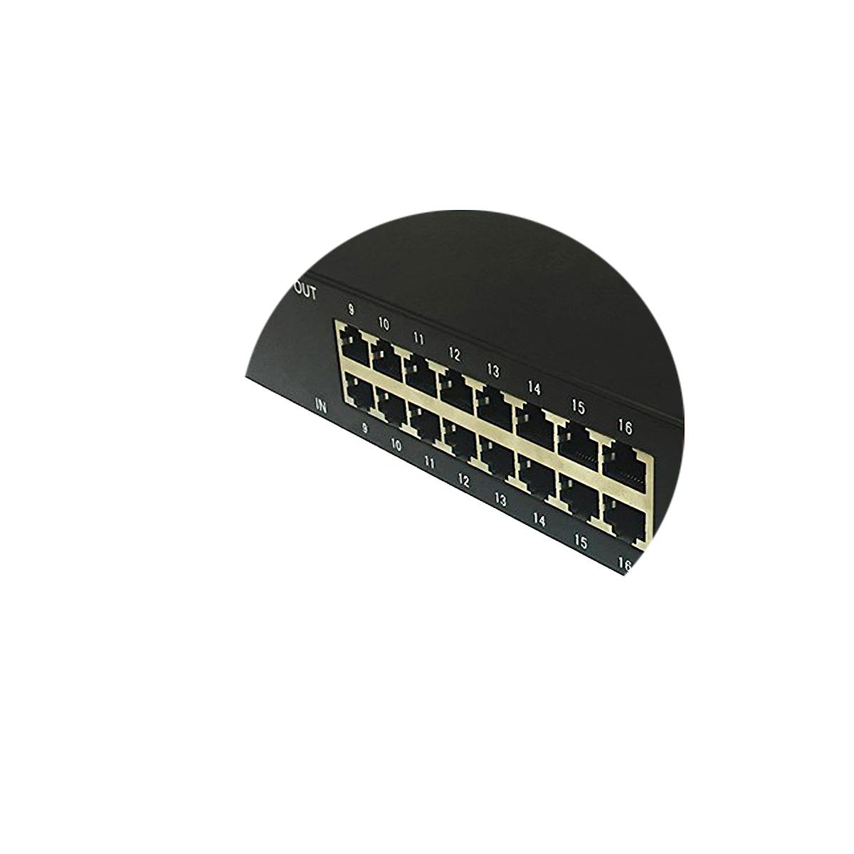 Thiết bị chống sét 16 cổng  mạng Lan, chống sét cho Camera IP  LKD–16WF- HE100M
