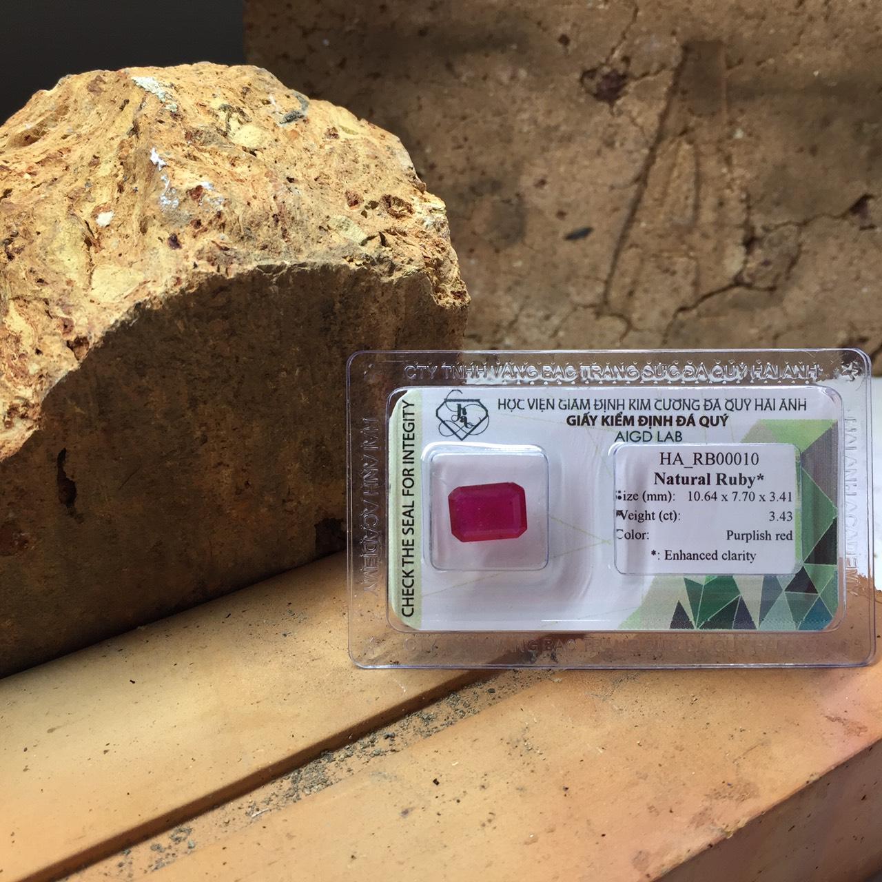 Viên đá Ruby thiên nhiên_HA-RB00010