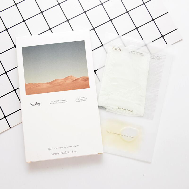 Combo 3 Mặt nạ dưỡng ẩm, chống lão hoá và phục hồi da Huxley Mask; Oil and Extract 25ml x3