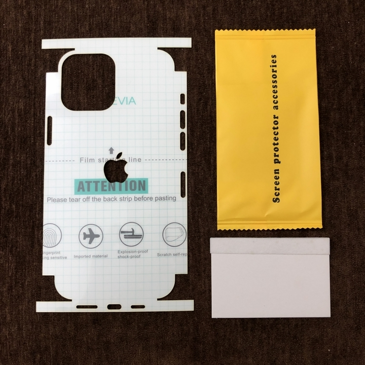 Dán dẻo PPF iPhone 12 Pro Max full viền trong suốt