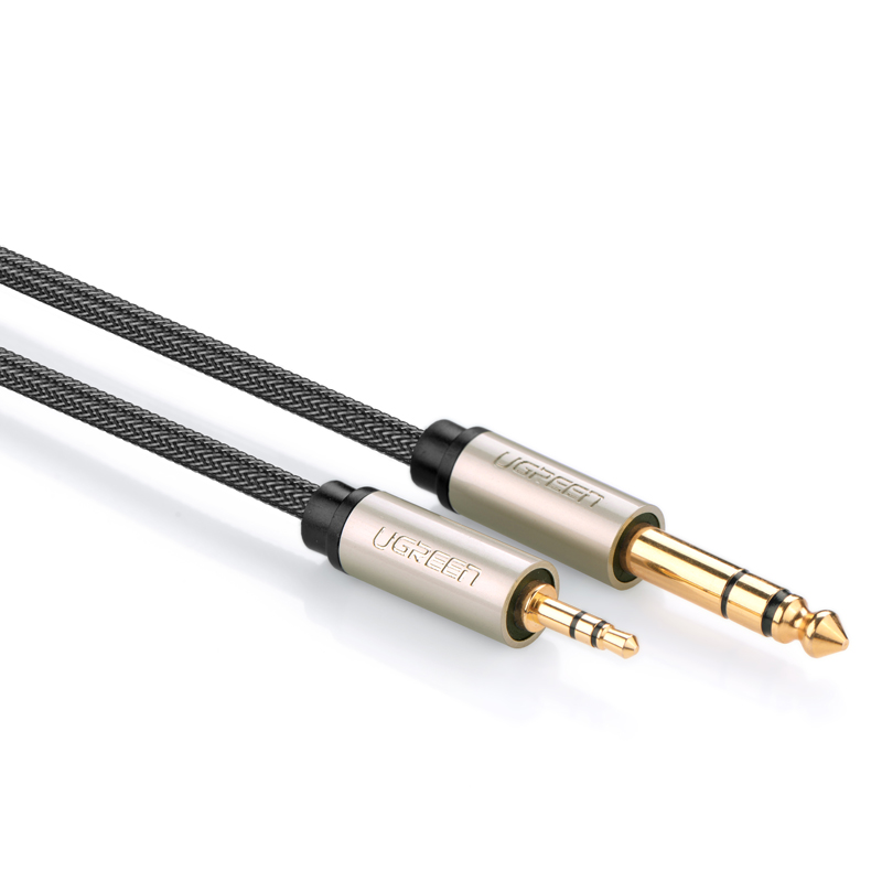 Dây âm thanh 3.5mm đực ra 6.5mm mạ vàng 24k cao cấp dài 5M UGREEN AV127 40806 - Hàng Chính Hãng