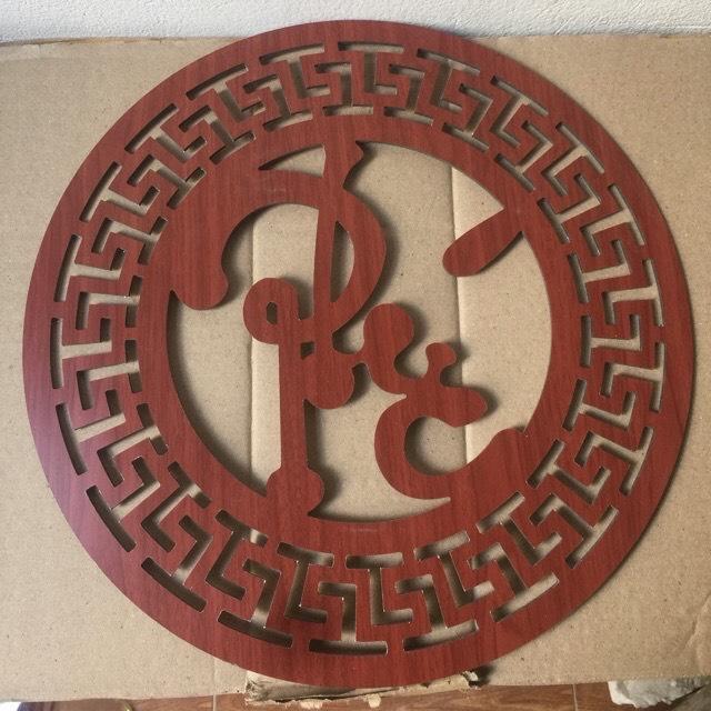 Tấm trang trí ôp lưng bàn thờ treo chữ phúc việt