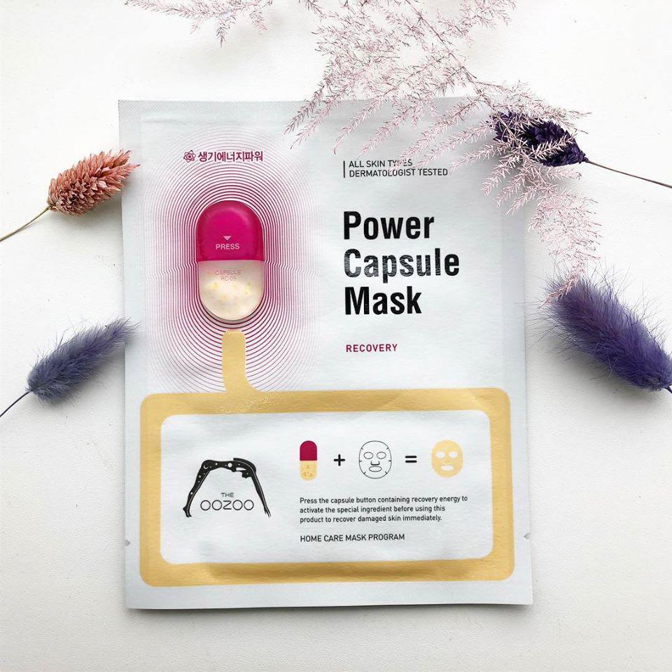 Mặt Nạ Phục Hồi Tươi Trẻ Cho Da Nhạy Cảm THE OOZOO Power Capsule Mask Recovery