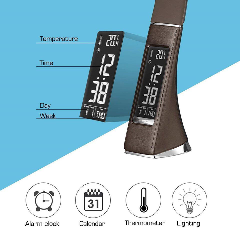 Đèn học LED để bàn chống cận, Lamp làm việc đọc sách cho mọi lứa tuổi, công nghệ tiết kiệm điện độ bền cao ánh sáng chống lóa, có 3 chế độ điều chỉnh độ sáng, có thể điều chỉnh các góc đến 150 độ, tích hợp nhiều tính năng