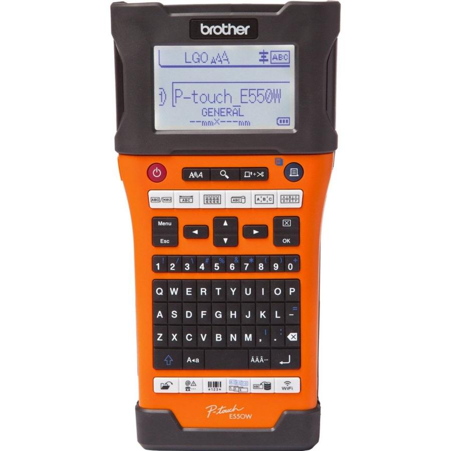 Máy in nhãn cầm tay Brother PT-E550WVP (Wifi), in nhãn dán cáp, dây, thi công điện-mạng-viễn thông - Hàng chính hãng