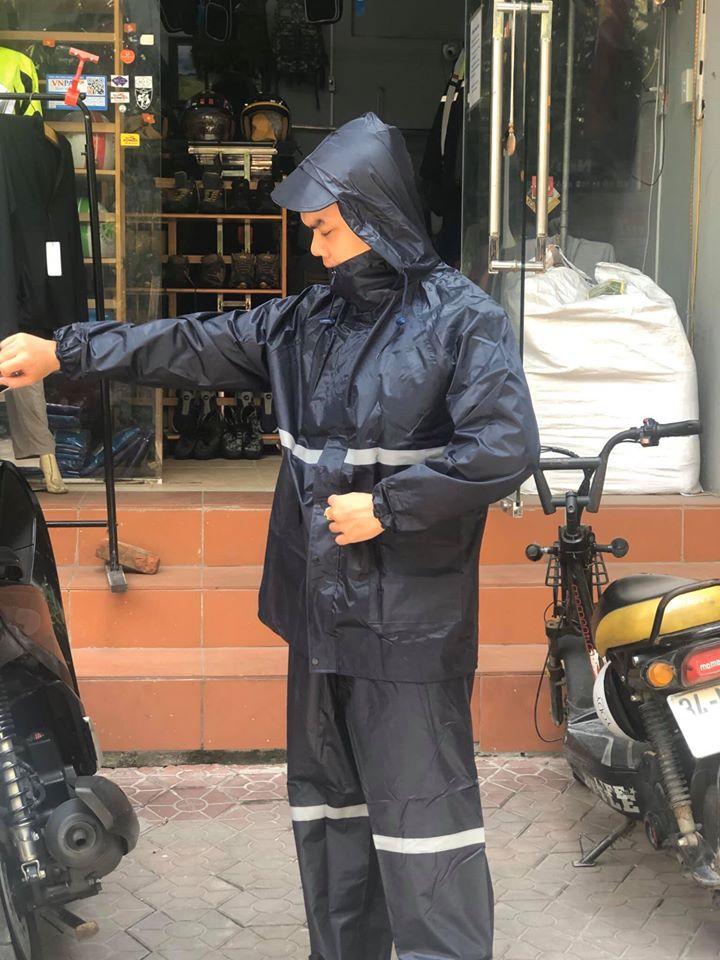 Áo mưa bộ phản quang đi mưa, đi phượt, đi xa