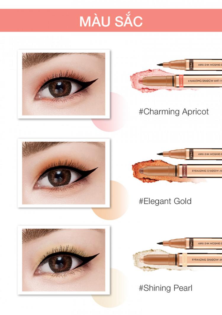 Bút sáp mắt và kẻ mắt 2in1 Browit Eyemazing Shadow and Liner 0.85ml + 0.60g 3