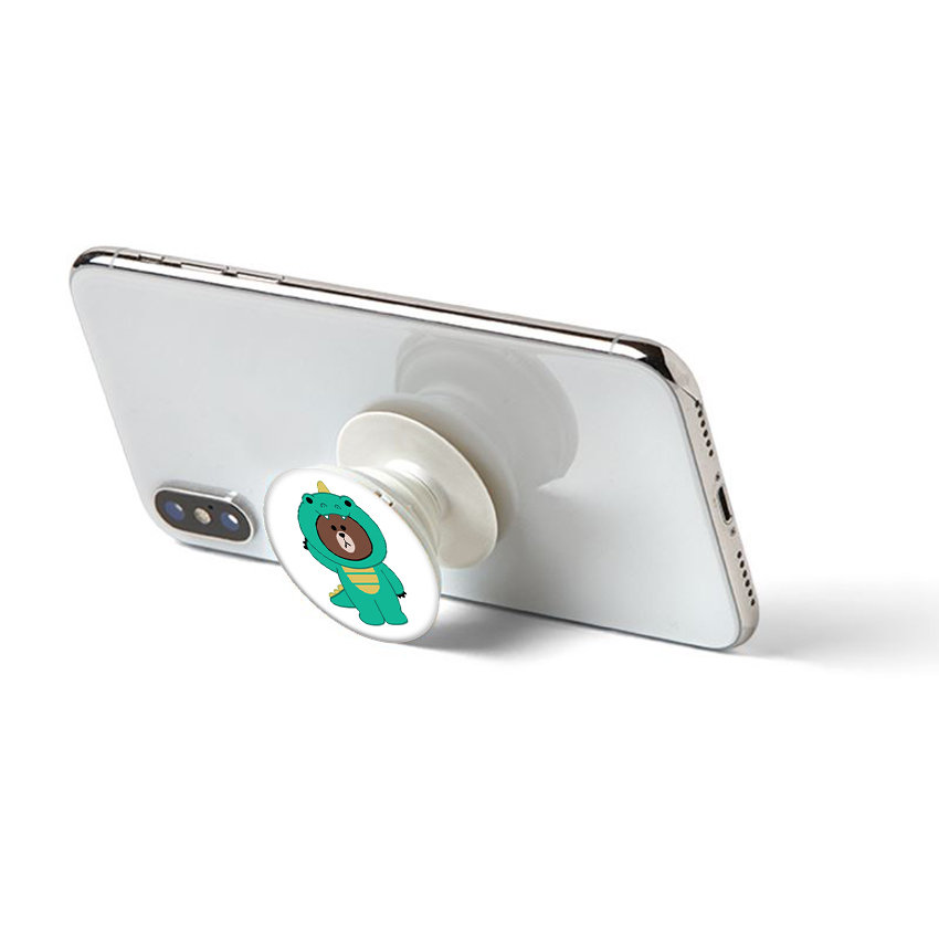 Gía đỡ điện thoại đa năng, tiện lợi - Popsockets - In hình BROWN 12 - Hàng Chính Hãng