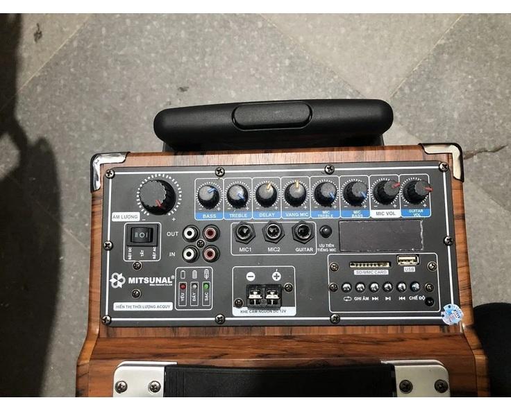 Loa kéo karaoke cao cấp Mitsunal M8 Chống rung, Có Mic Bass, Mic Tress, Delay, Shelves, Shelf Điện Thoại dùng để livestream, xem video, Quay Phim, Ghi Hình Đa Năng, Chắc Chắn Xoay 360 Độ Tiện Lợi - Hàng chính hãng