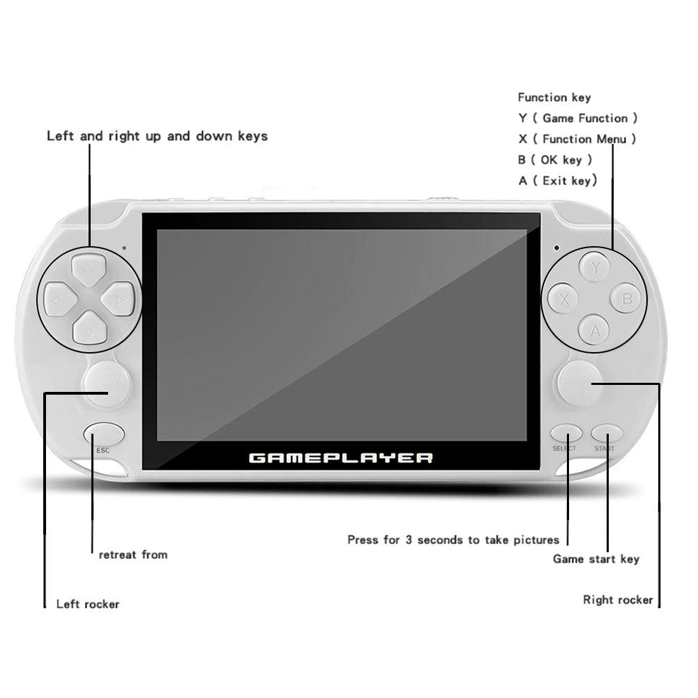 Máy Chơi Game Cầm Tay Đa Năng Màn Hình Lớn 5.1inch Psp Coolbay X9 - X9S 16GB - Màu Đen