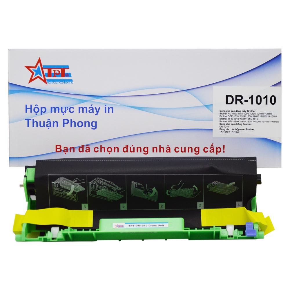 Cụm trống Thuận Phong DR-1010 dùng cho máy in Brother HL-1110/ 1111/ 1200/ 1201/ 1210/ 1211/ DCP-1510/ 1511/ 1514/ 1600/ 1601/ MFC-1810/ 1811/ 1815/ 1900/ 1905/ 1910/ 1915- Hàng Chính Hãng