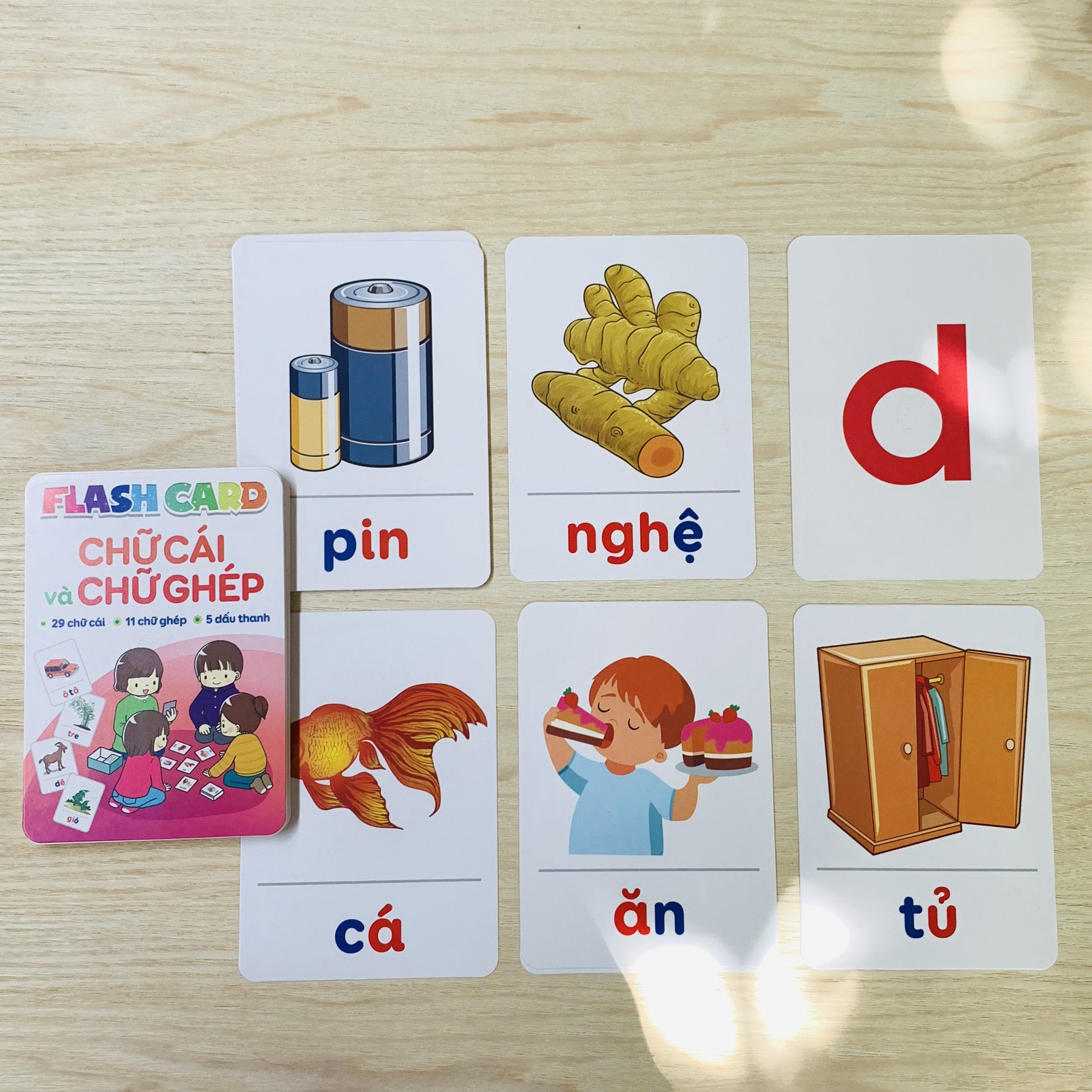 Thẻ Học Thông Minh Flashcard Chữ Cái Và Chữ Ghép Kèm Dấu Cho Bé Nhận Biết Tiếng Việt Và Học Ghép Chữ