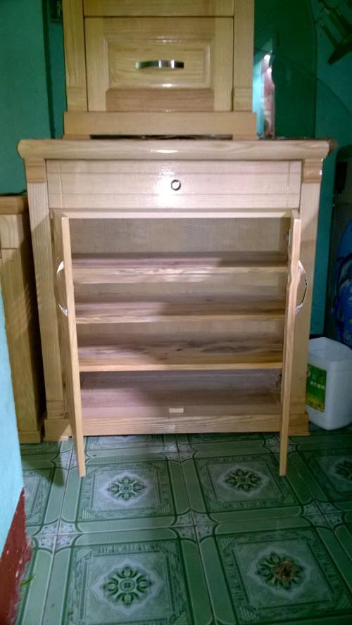 Tủ giày dép gỗ sồi nga 80cm