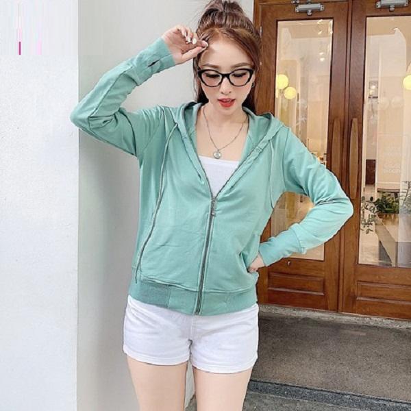 Áo khoác nữ chất thun chống nắng nữ,Chống tia UV, làm mát