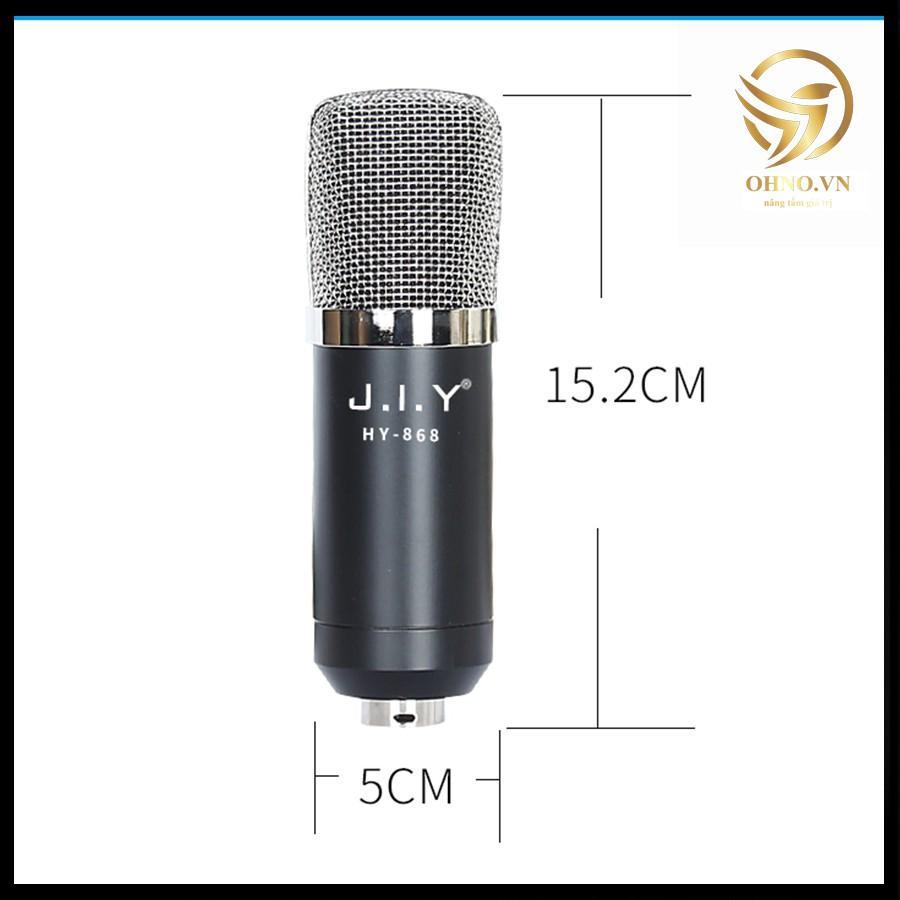 Mic Micro Hát Karaoke Livestream Karaoke Cao Cấp JIY HY-868 Micro Mic Thu Lọc Âm