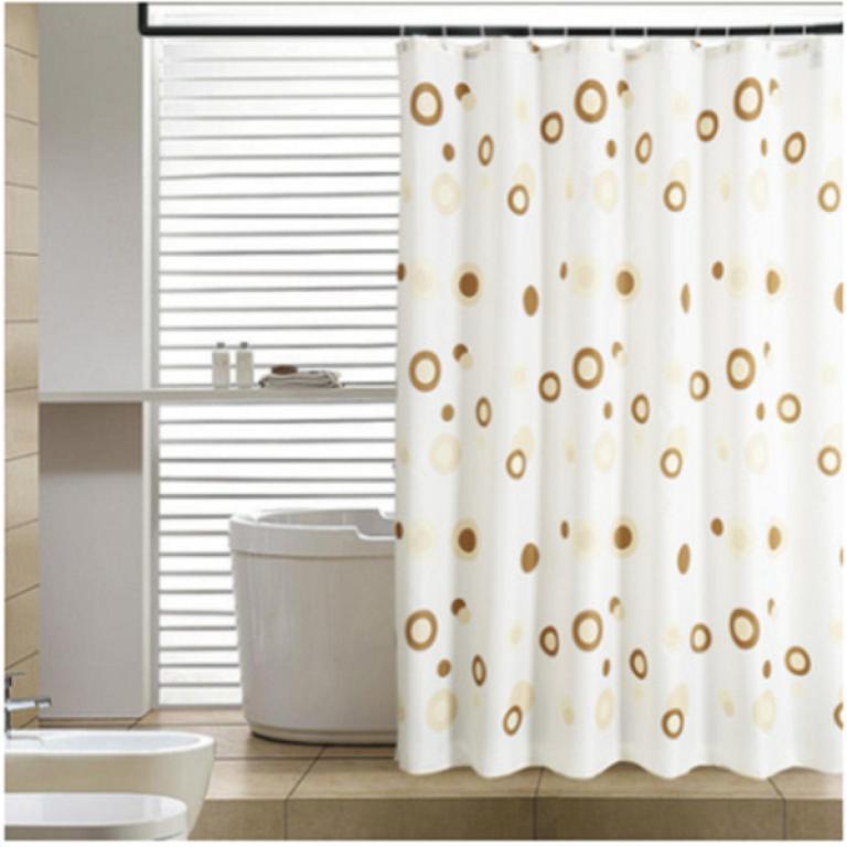 Rèm cửa nhà tắm vải PEVA mềm, mỏng, không thấm nước (rộng 1m8, dài 2m)
