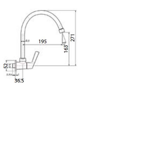 Vòi bếp lạnh gắn tường (âm tường) American Standard Winston WF-T707(FFAST707)
