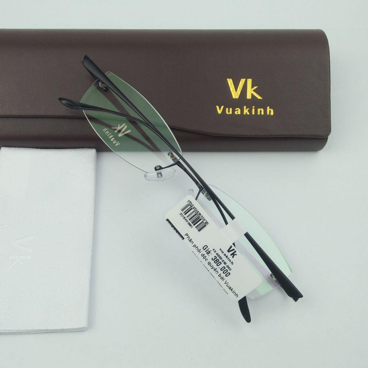 Gọng kính cận không viền càng lá dừa VK-36