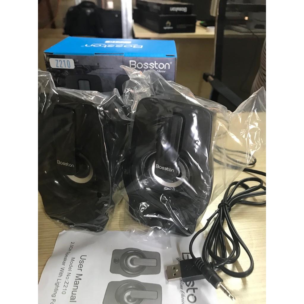 Loa Vi Tính 2.0 Speaker Bosston Z210 Có Led RGB - Hàng Chính Hãng