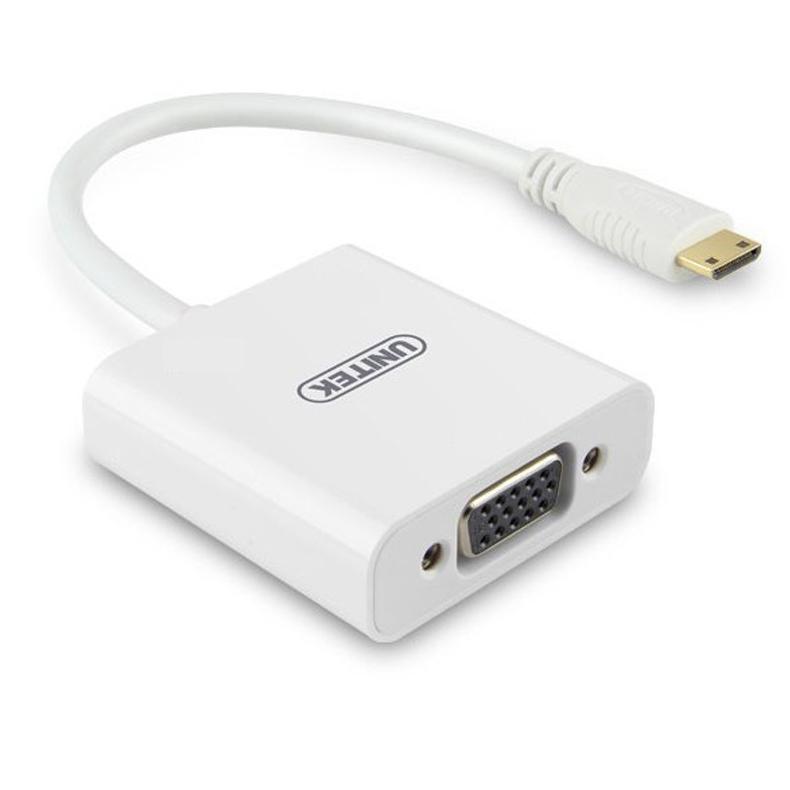 Cáp chuyển đổi mini HDMI to VGA chính hãng Unitek Y-5323 - Cáp HDMI to VGA Unitek Y-5323