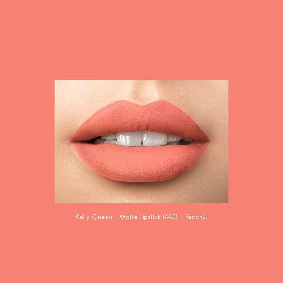 Son kem lì Kelly queen matte lipstick M01