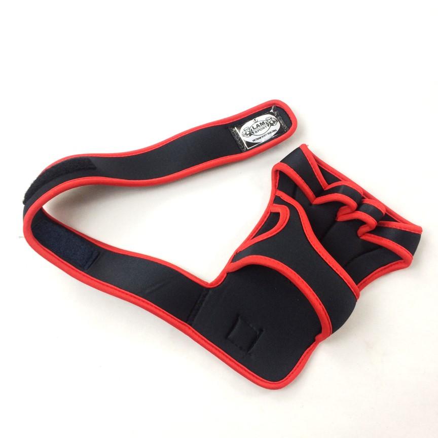 Găng tay tập Gym tạ có cuống kiểu mới 2019 (màu đỏ )