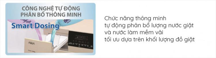 Máy giặt sấy AQUA AQD-DH1050C N, giặt 10.5kg, sấy 7kg,Invertercó Công nghệ tự động phân bổ thông minh Smart Dosing