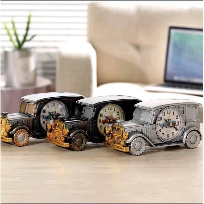 Đồng hồ để bàn trang trí, báo thức mô hình ôtô cổ