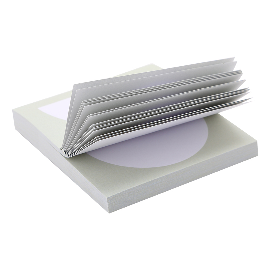 Giấy Note Vuông - Kèm Bút Bubu BLTP-0054 - Hình Nửa Hình Tròn