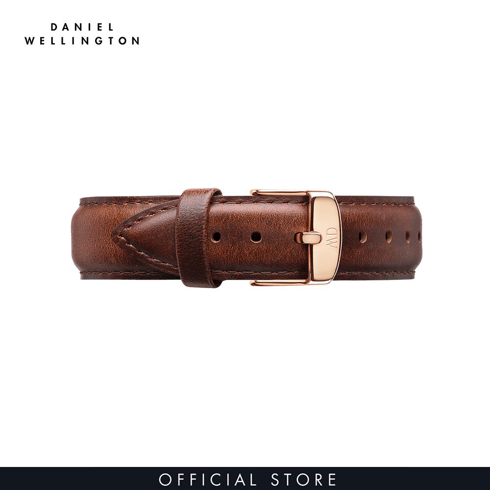 Dây da đồng hồ Daniel Wellington 20mm khóa màu vàng hồng - Cho đồng hồ Classic 40mm