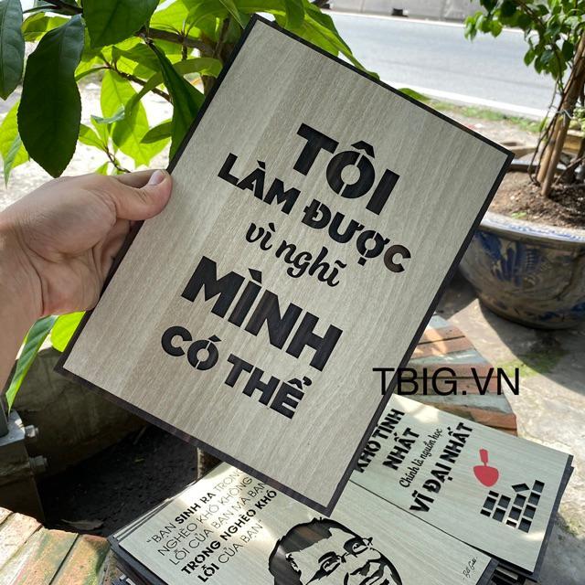 """Tranh Tường Tạo Động Lực TBIG050 trang trí phòng mới cho cửa hàng doanh nghiệp """"tôi làm được vì nghĩ mình có thể"""""""