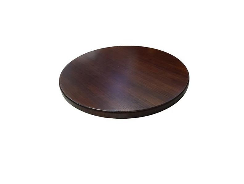 Bàn cafe chân gang đúc mặt bàn tre ép TH D60N - Màu nâu cánh dán sang trọng